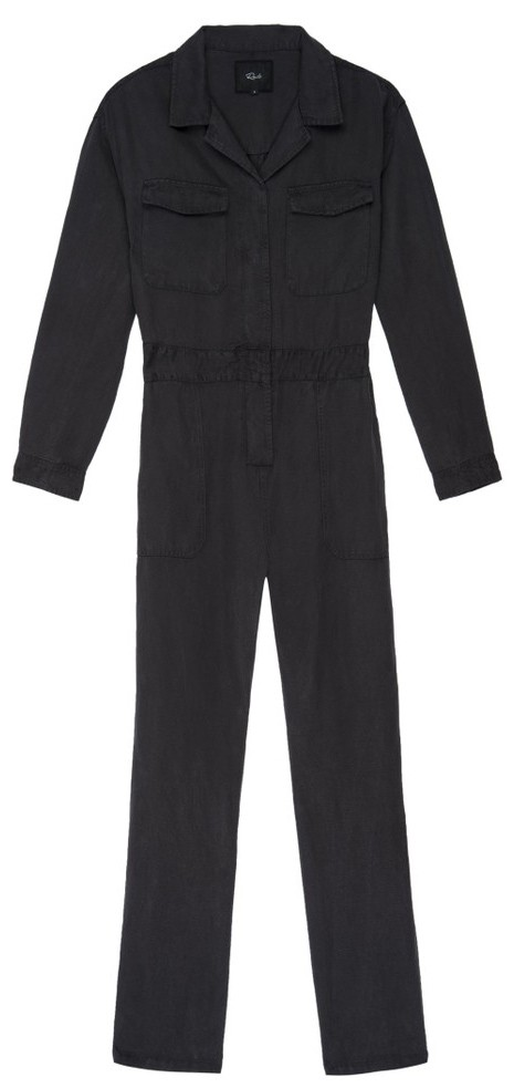 Rails Dixon Twill Jumpsuit in Coal Grey
