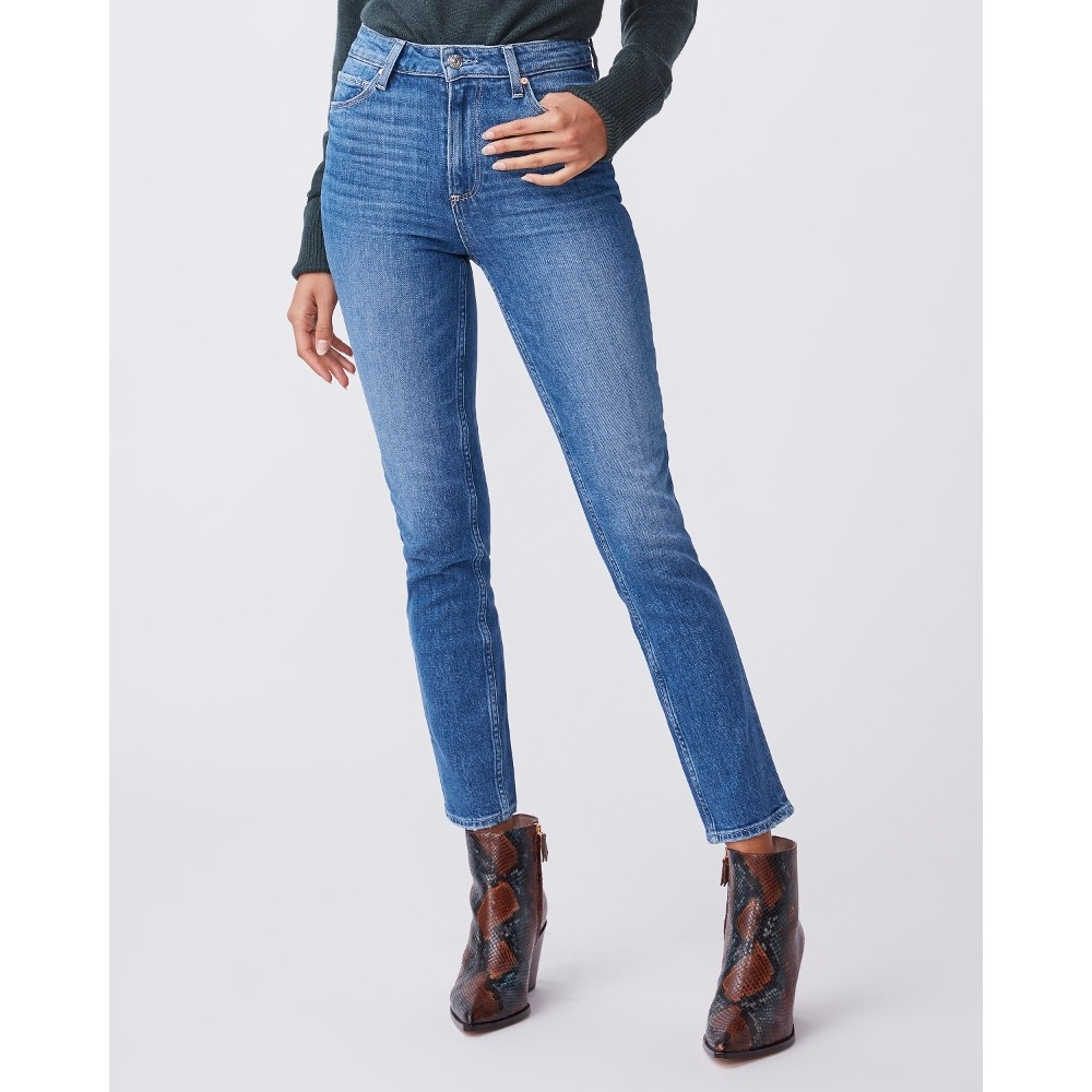 Paige Sarah Slim Jeans in Roadhouse Dark Denim