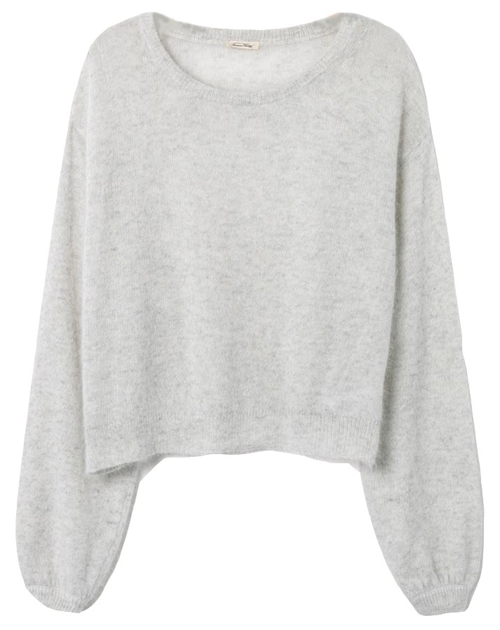 American Vintage Mitibird Jumper in Light Grey Light Grey