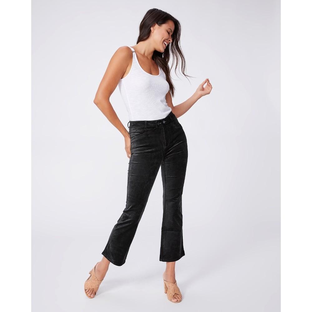 Paige Claudine Velvet Jeans in Dark Spruce Black