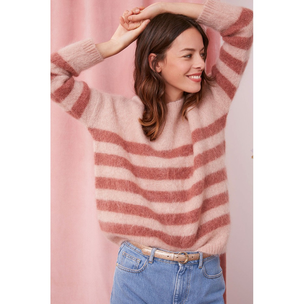 Des Petits Hauts Domis Sweater in Rose Pink