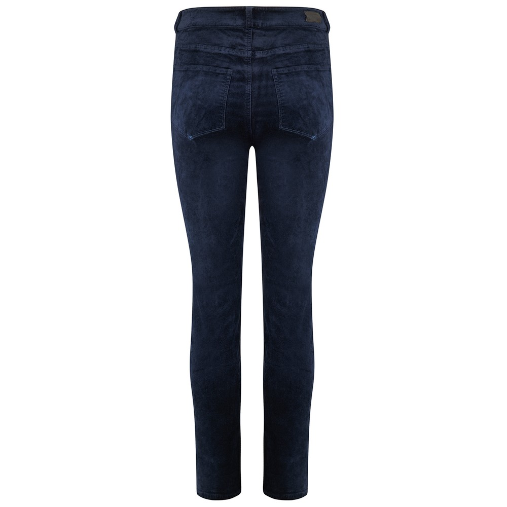 Paige Cindy Velvet Jeans in Deep Navy Navy