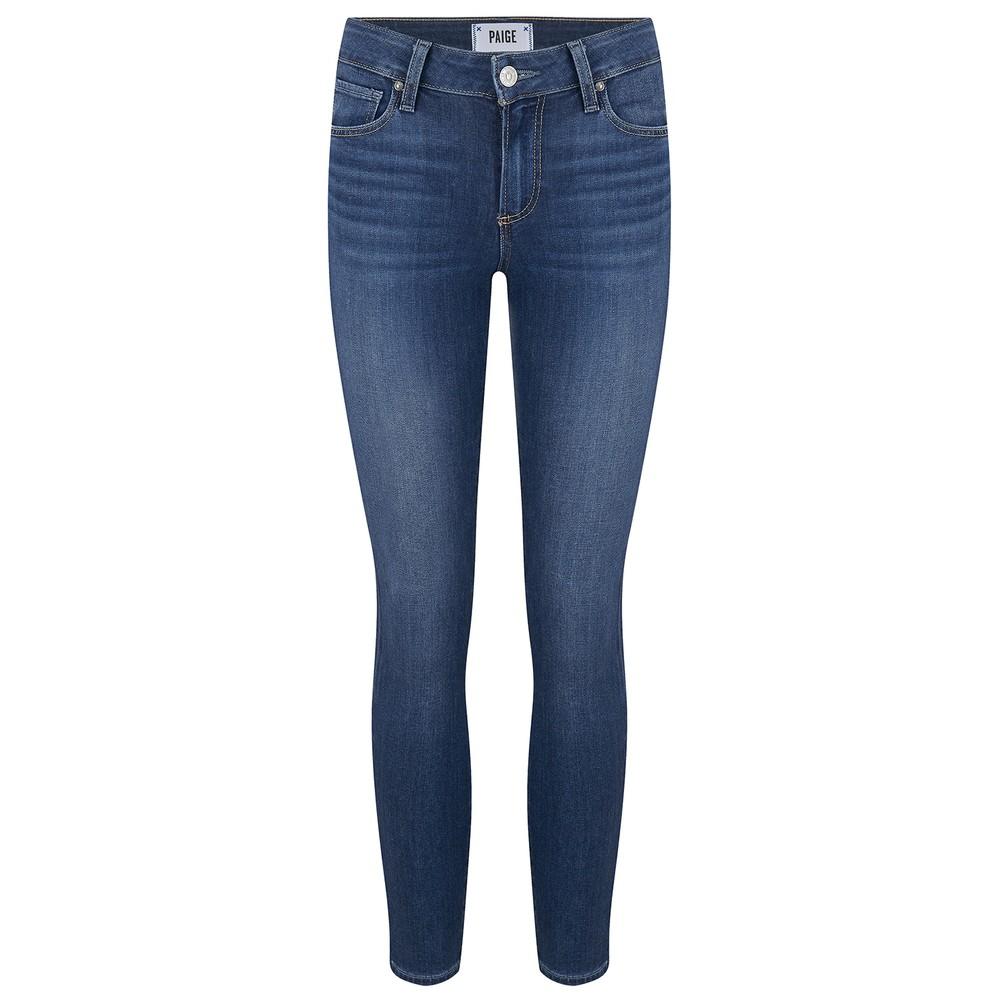 Paige Verdugo Mid Rise Skinny Jeans Mid Denim
