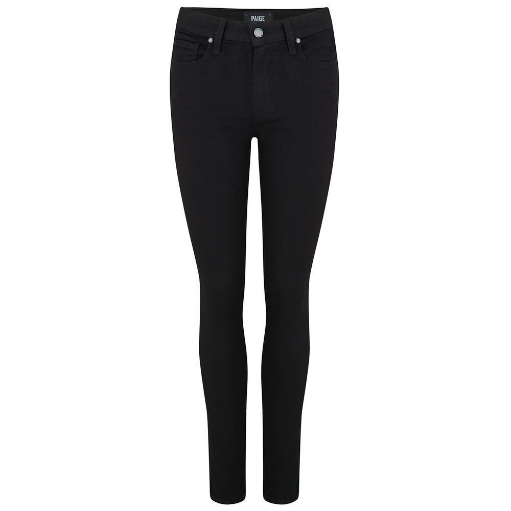 Paige Hoxton Skinny Jeans in Black Shadow Black