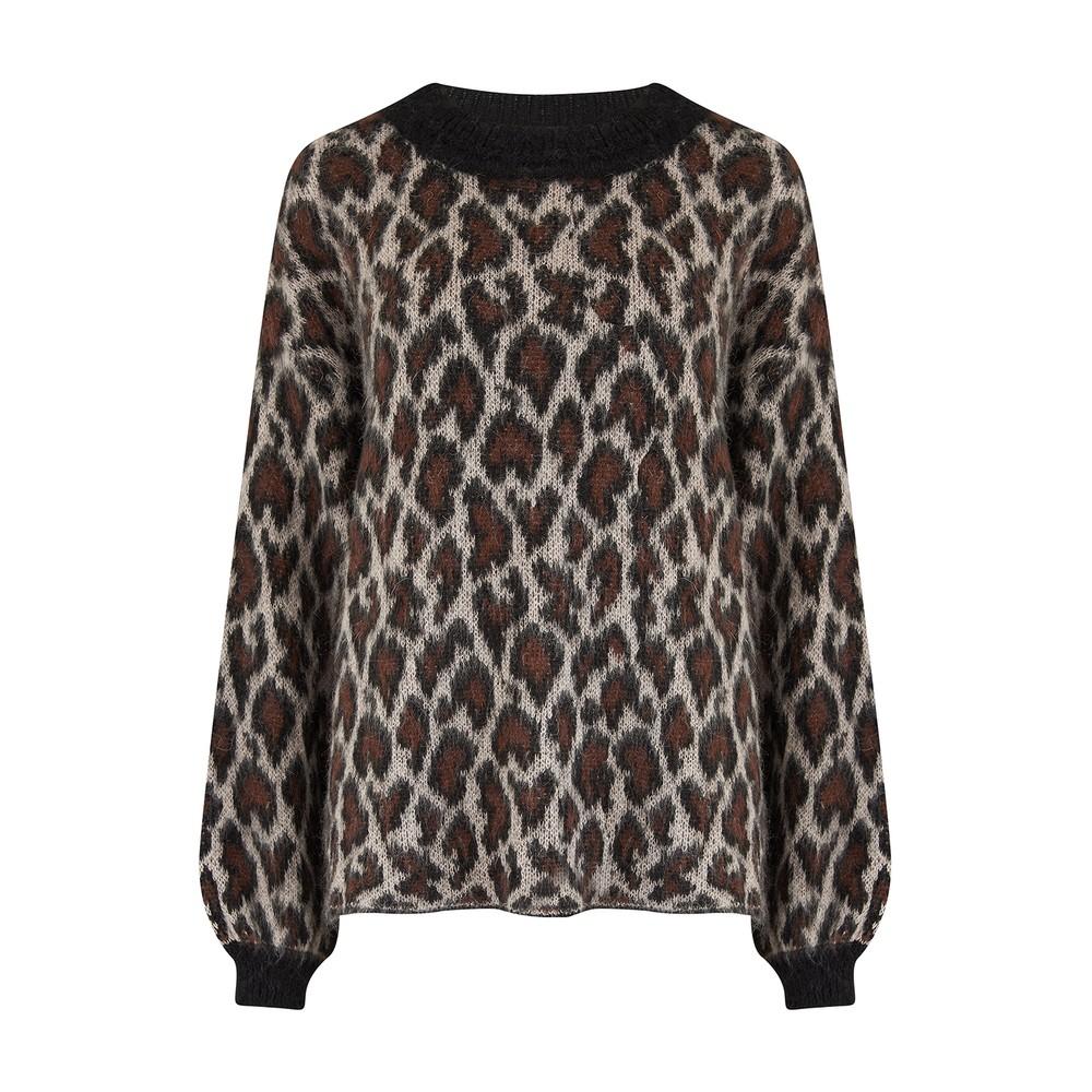 Second Female Nigari Knit 0 Neck Jumper Leopard