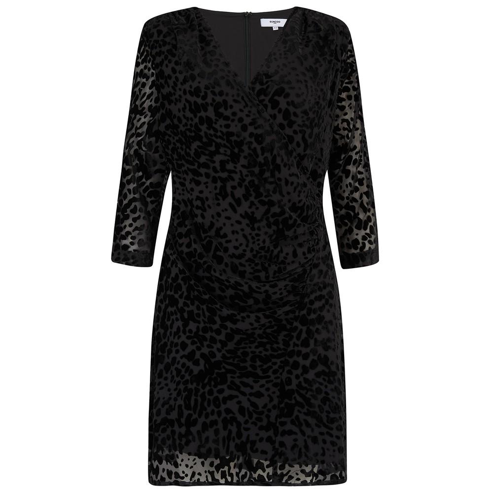 Suncoo Celine Dress in Black Black
