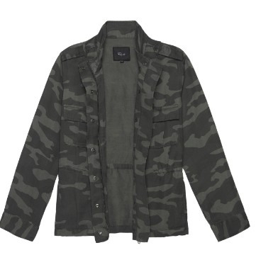 Rails Trey Charcoal Jacket in Charcoal Camo Multicoloured