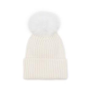 Jay Ley Pom Pom Hat in Cream