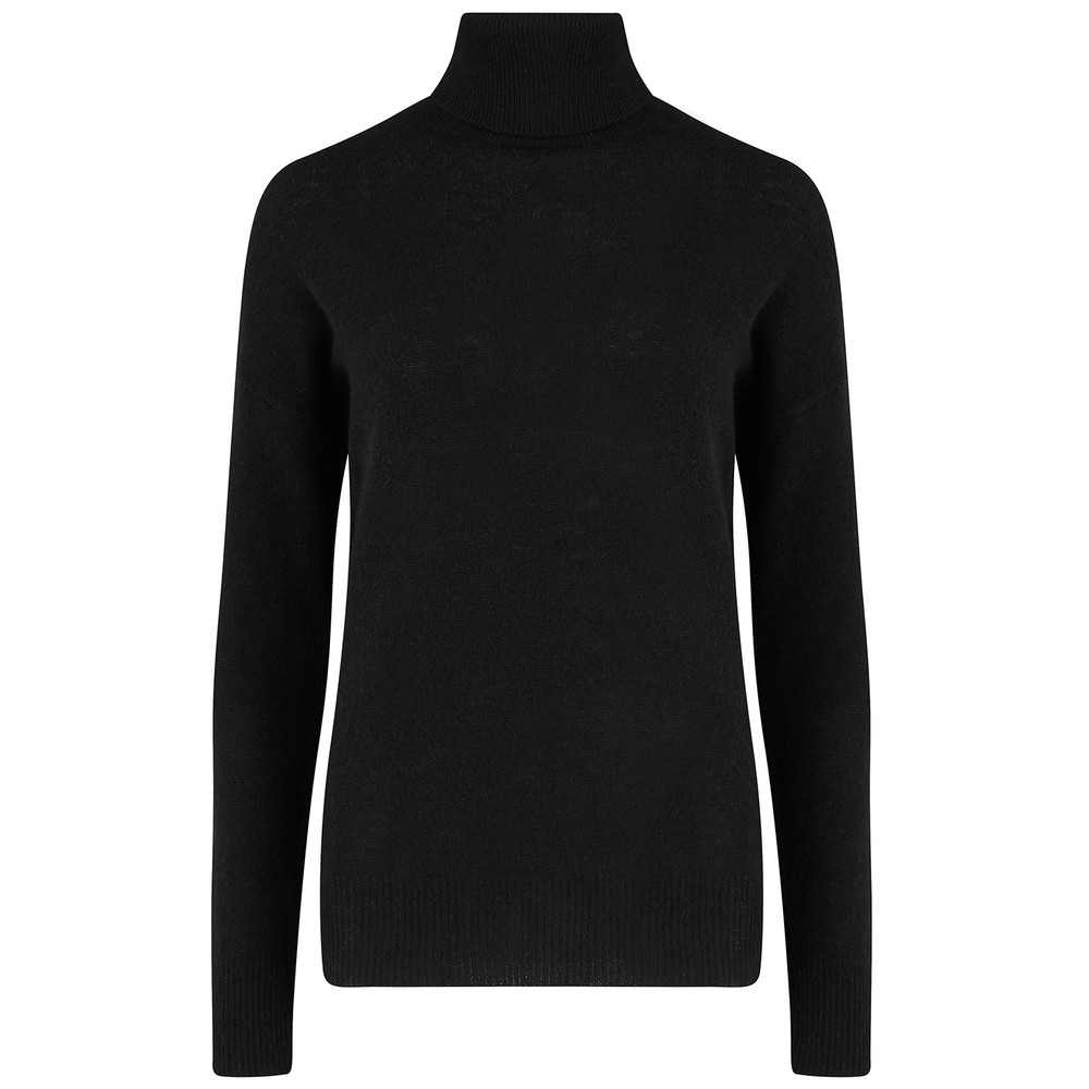 Jumper 1234 Black Roll Neck Jumper Black