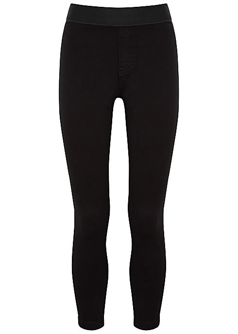 J Brand Dellah High Rise Legging in Black Coated Black