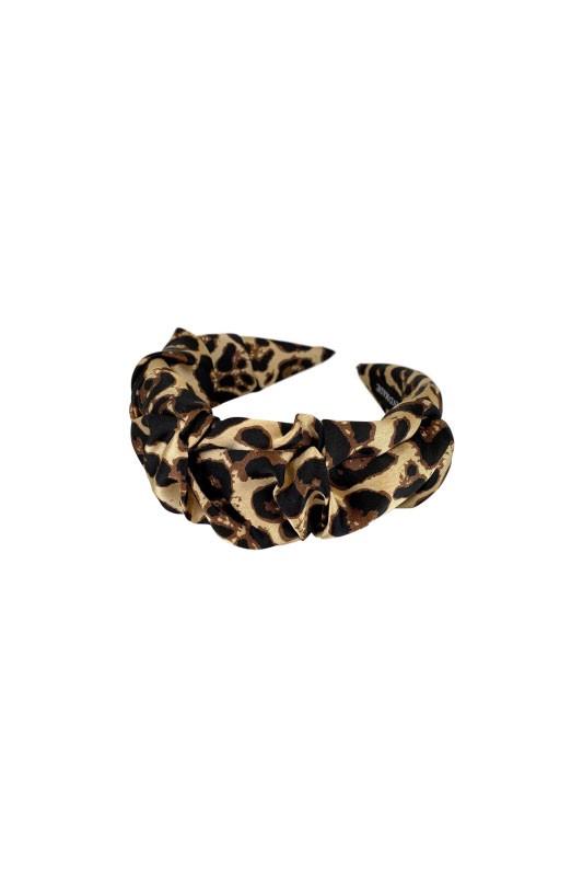 Black Colour  Emory Leo Headband in Natural Natural