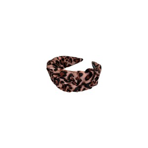 Black Colour  Emory Leo Headband in Rose