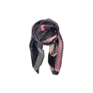 Black Colour  Gold Tione Wool Scarf