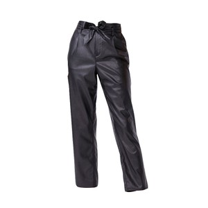 Paige Melila Trousers in Black Vegan Leather