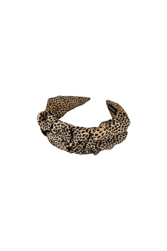 Black Colour  Bianca Spot Headband in Nude Natural