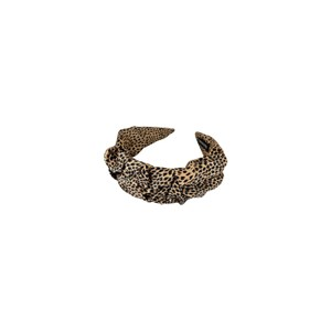 Black Colour  Bianca Spot Headband in Nude