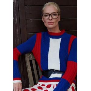 Madeleine Thompson Roxanne Jumper in Blue, Red & Cream