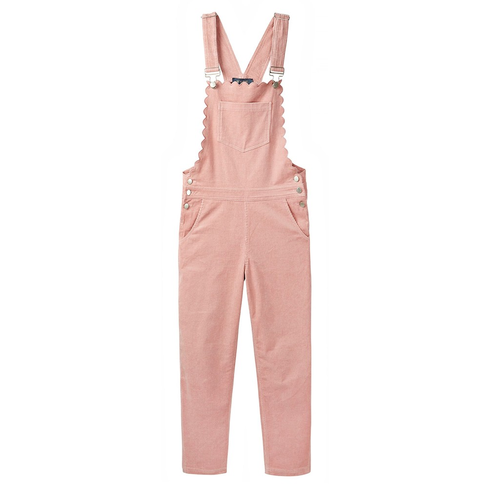 Wyse Scarlett Scallop Dungarees in Pink Pink