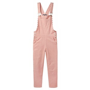 Wyse Scarlett Scallop Dungarees in Black in Pink