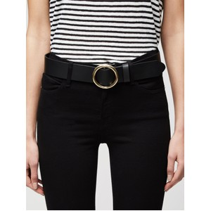 Frame Denim Le Circle Belt in Black