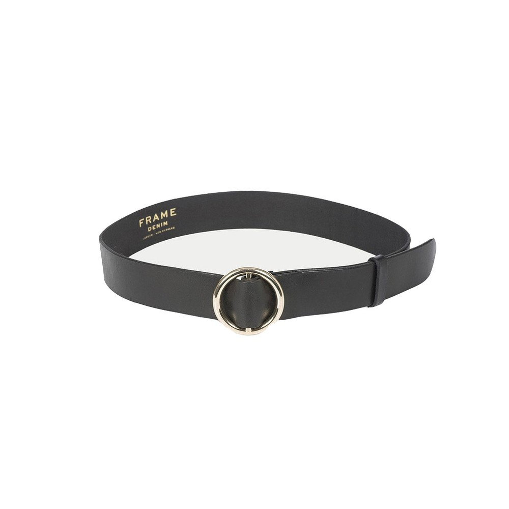 Frame Denim Le Circle Belt in Black Black