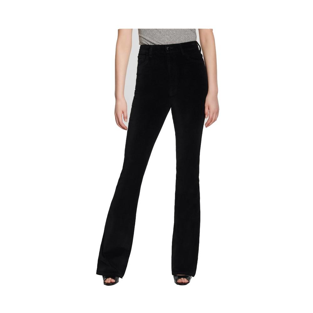 J Brand Runway High Rise Boot Jeans in Black Velvet Black