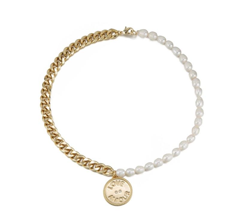 Celeste Starre The Amour Necklace Gold