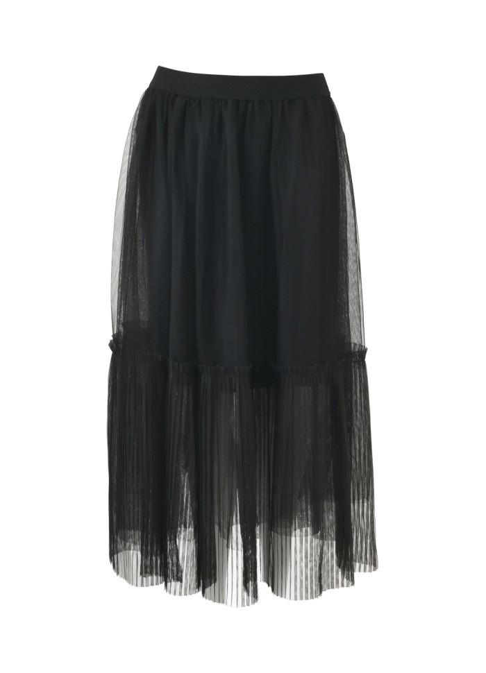 Black Colour  TIffany Tulle Skirt in Black Black