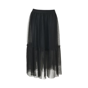 Black Colour TIffany Tulle Skirt in Black