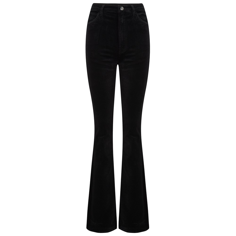 J Brand Runway High Rise Boot Jeans in Black Velvet Black