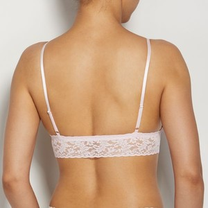 Hanky Panky Signature Lace Padded Triangle Bralette in Bliss Pink