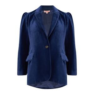 Seraphina The Tux Jacket in Navy Blue Cotton Velvet