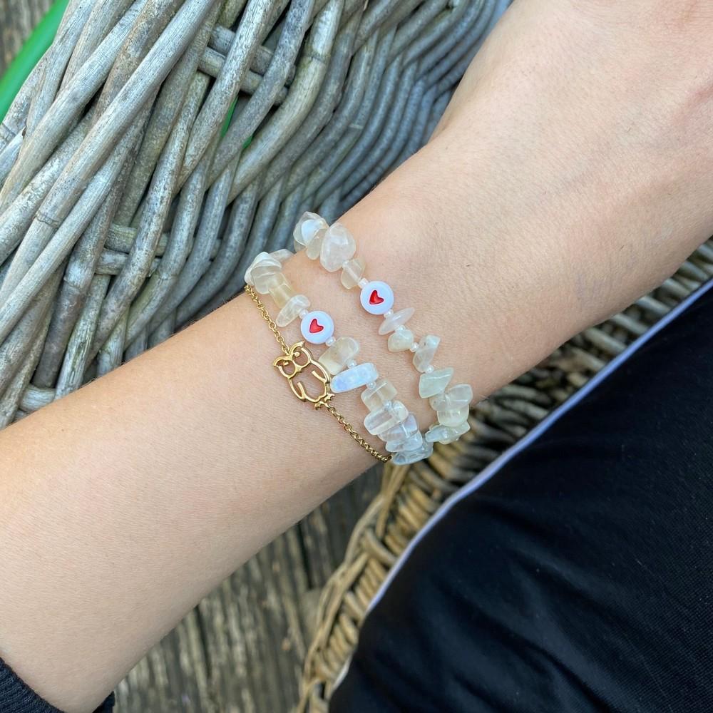 TBalance Love Heart Crystal Bracelet White