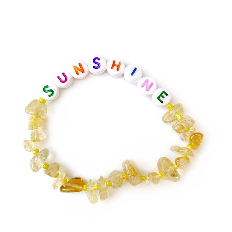 TBalance Sunshine Multi Crystal Healing Bracelet Yellow