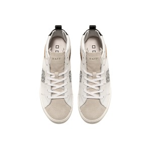 Date Hawk Calf White/Silver Trainers