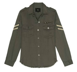 Rails Conrad Olive Military Shacket KHAKI