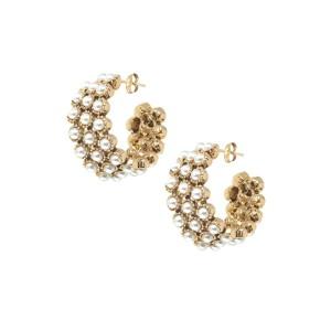 Ashiana Kelly Pearl Hoop Earrings