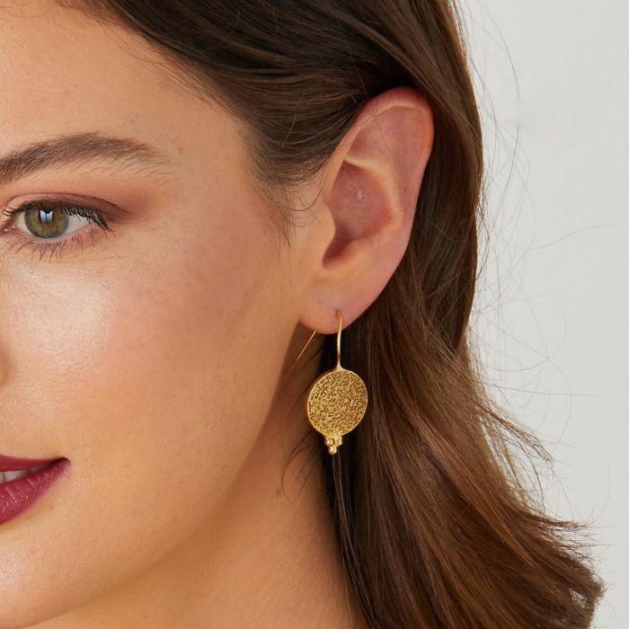 Ashiana Algir Gold Coin Earrings Gold