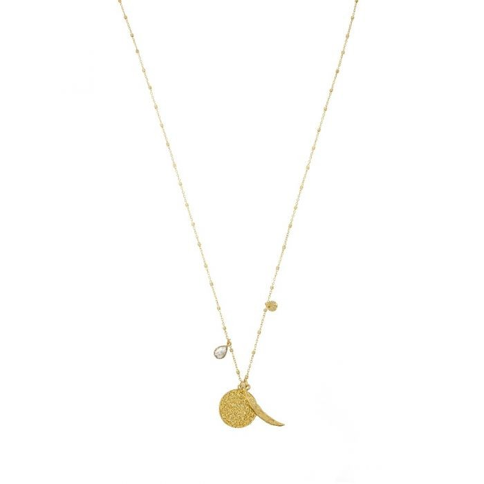 Ashiana Chilli Charm Necklace Black