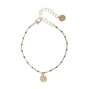 Ashiana Selina Bracelet with Black Charms