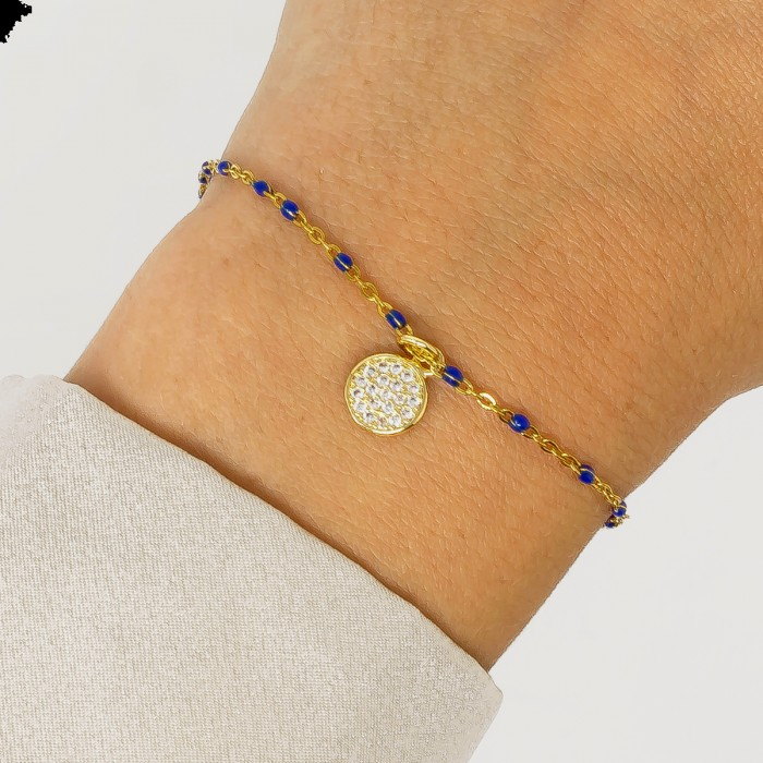 Ashiana Selina Bracelet with Blue Charms Blue