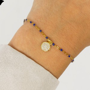 Ashiana Selina Bracelet with Blue Charms