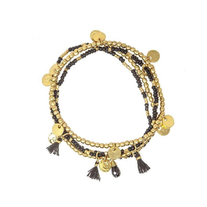 Ashiana Treasure Island Bracelet Black