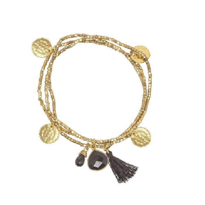 Ashiana Gemini Bracelet in Black Onyx Black