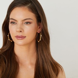 Ashiana Cruise Gold Pearl Hoops