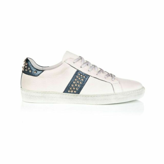 Air & Grace Cru Studded Trainers Navy
