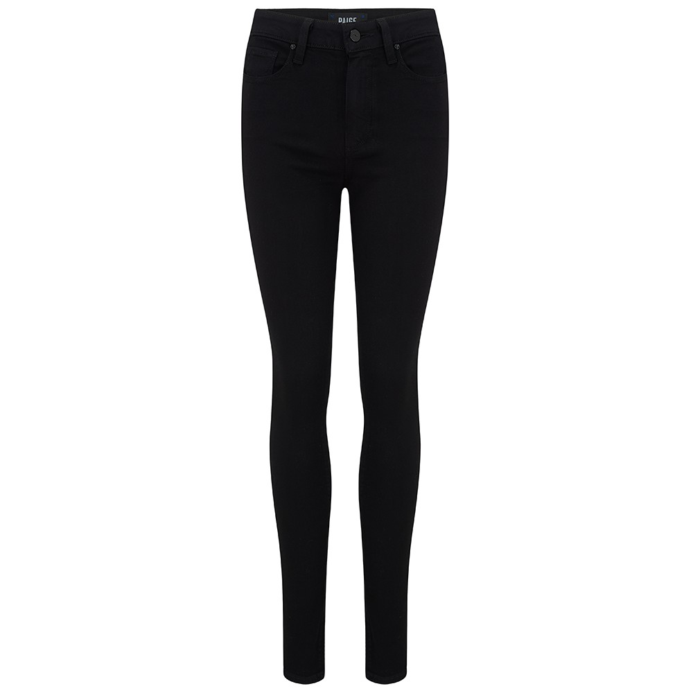 Paige Margot High Rise Jeans in Black Shadow Black