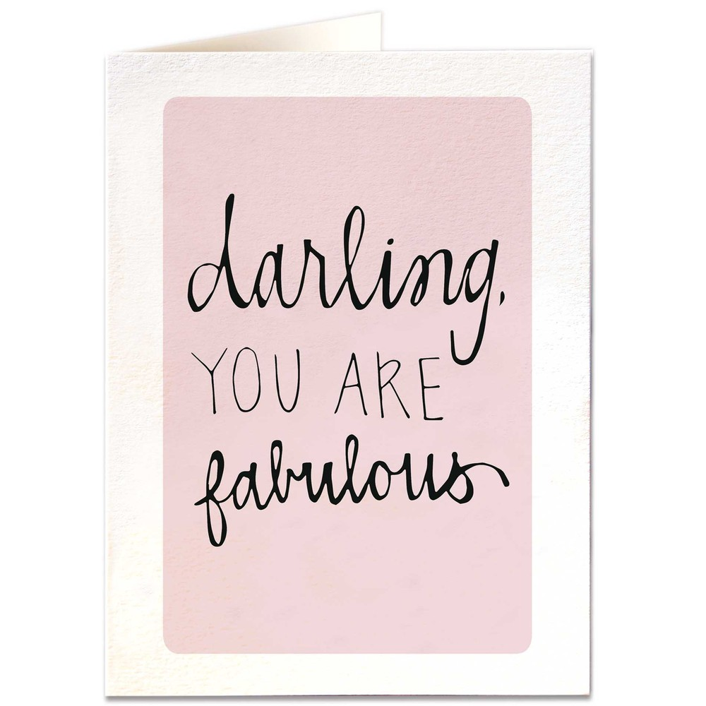 Archivist Darling You Are Fabulous Card None