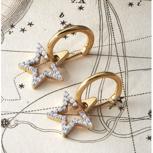 Sophie Lis Sirius Star Hoop Earrings