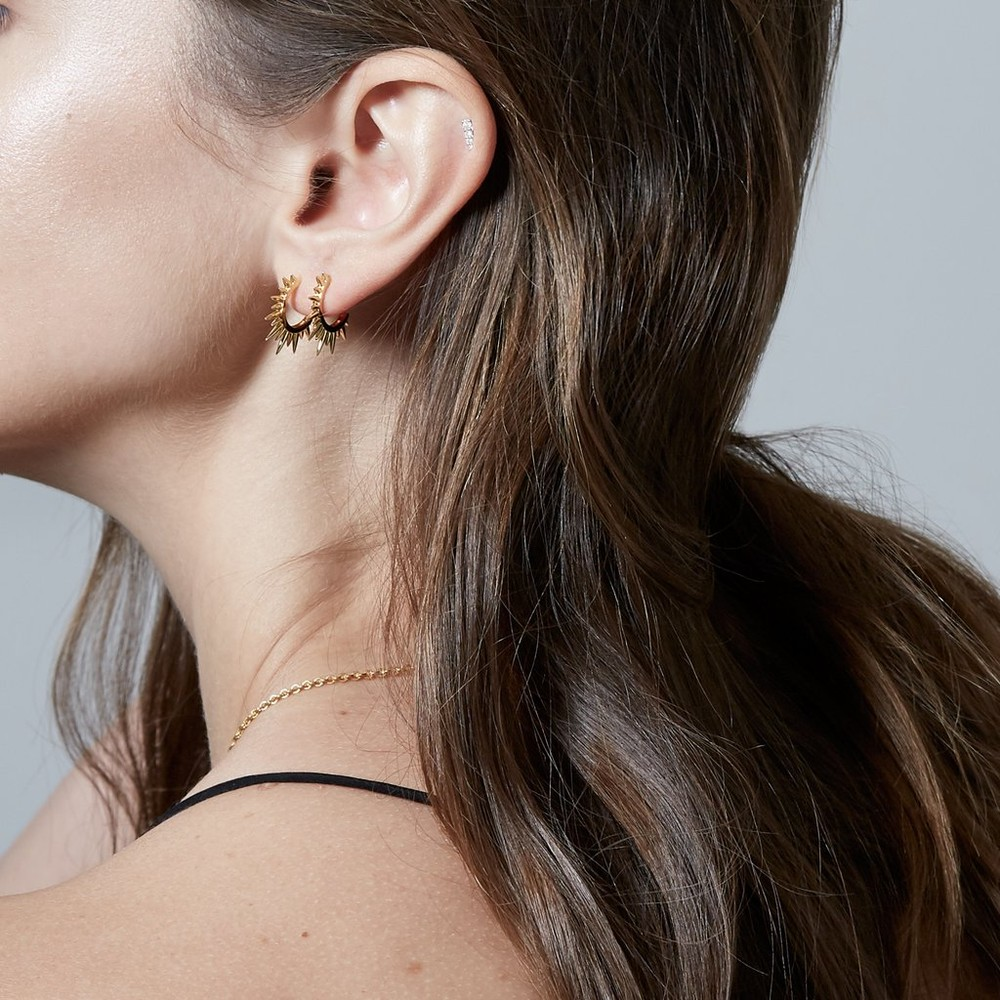 Sophie Lis Sundance Hoop mini Earrings Gold